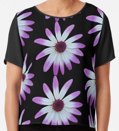 wunderschöne, violette Blüte, Blume, Sommer, Natur Chiffontop