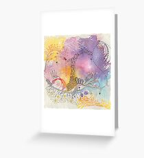 The Journey, mixed media abstract Greeting Card