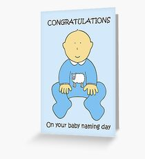 Baby Naming Ceremony Congratulations for a Boy. Greeting Card