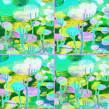 Surreal Mulga Forest  - Pinks & Greens by 40degreesSouth
