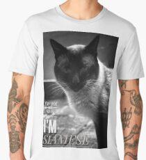Male Siamese Cat  Men's Premium T-Shirt