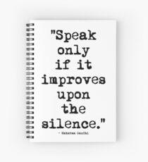 Mahatma Gandhi Silence Spiral Notebook