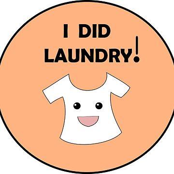Adult Reward Sticker - I Did Laundry! by lauren-w