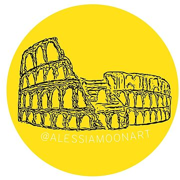 MONUMENT STICKER (GIALLO/NERO) by AlessiaMoon
