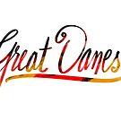Great Dane Lettering von Doggenhaus