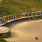 Beach Huts - Whitby by Trevor Kersley