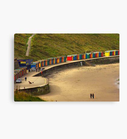 Beach Huts - Whitby Canvas Print