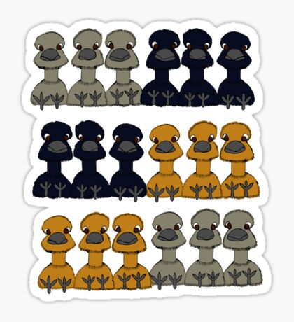 Emus say hello Sticker