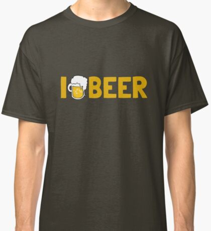 I {DRINK} BEER Classic T-Shirt