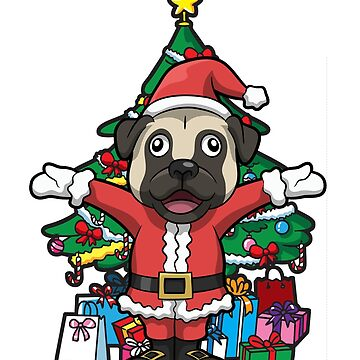Christmas Santa Dog by frittata