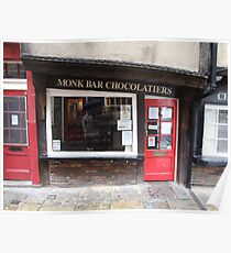 Monk Bar Chocolatiers Poster