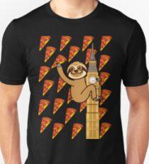 Cute Sloth London Pizza Unisex T-Shirt
