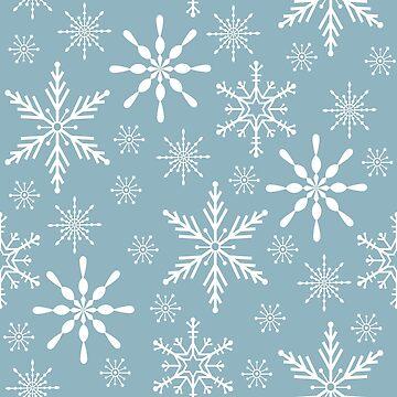 Snowflake seamless pattern design by SooperYela