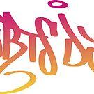 Heartsdales Hey DJ Graffiti pink yellow by dubukat