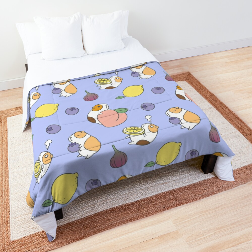 Guinea pig and blueberry  Comforter