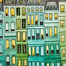 Cats in Green Townhouses by Ryan Conners