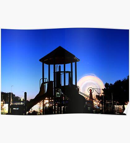 Playground at Night Poster