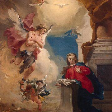 Annunciation-Giovanni Battista Tiepolo by LexBauer