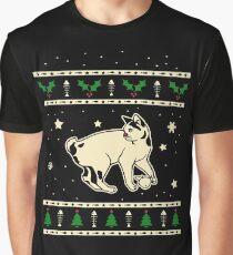 Christmas Japanese Bobtail Cat Gift Graphic T-Shirt