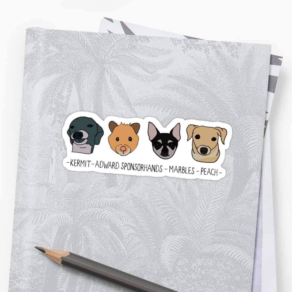 Jennas Haustiere + Namen Sticker