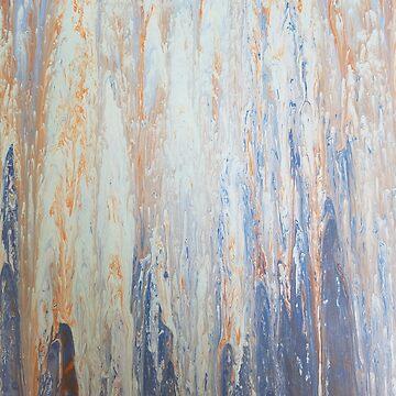 Blue and Orange Melt by Clestelia