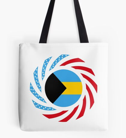 Bahamian American Multinational Patriot Flag Series Tote Bag