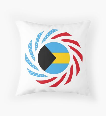 Bahamian American Multinational Patriot Flag Series Throw Pillow