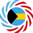 Bahamian American Multinational Patriot Flag Series by Carbon-Fibre Media