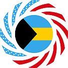 Bahamian American Multinational Patriot Flag Series by Carbon-Fibre Media