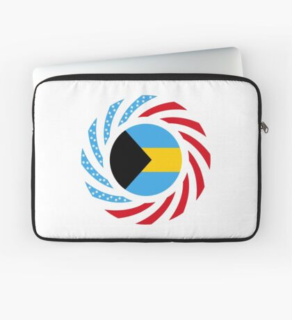 Bahamian American Multinational Patriot Flag Series Laptop Sleeve