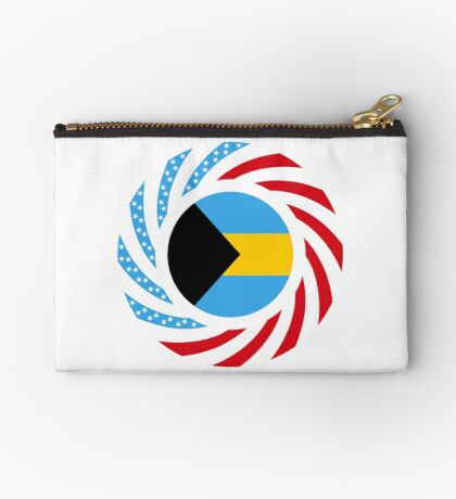 Bahamian American Multinational Patriot Flag Series Zipper Pouch