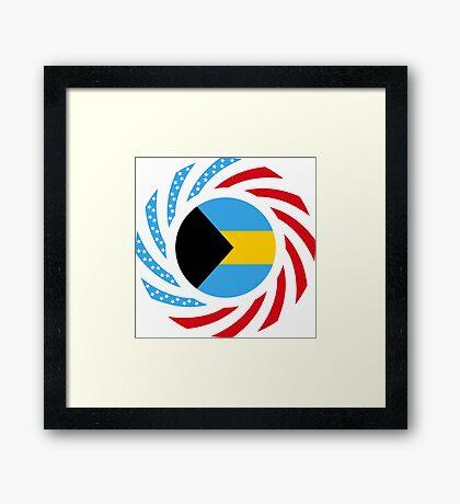 Bahamian American Multinational Patriot Flag Series Framed Print