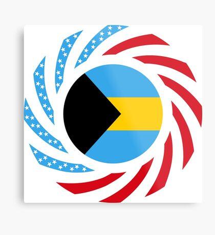 Bahamian American Multinational Patriot Flag Series Metal Print