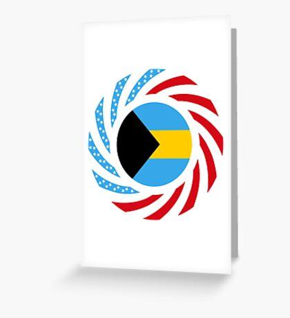 Bahamian American Multinational Patriot Flag Series Greeting Card