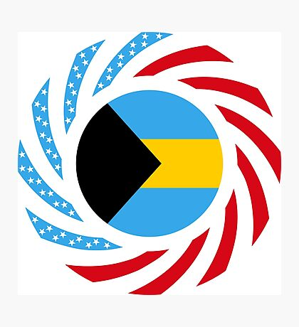 Bahamian American Multinational Patriot Flag Series Photographic Print