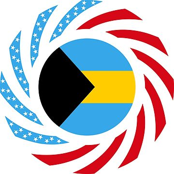 Bahamian American Multinational Patriot Flag Series by carbonfibreme