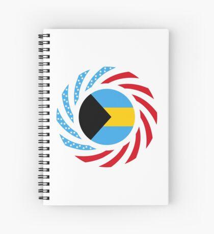 Bahamian American Multinational Patriot Flag Series Spiral Notebook