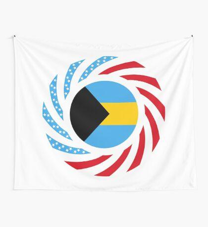 Bahamian American Multinational Patriot Flag Series Wall Tapestry