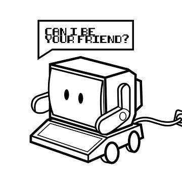 Friendly Retro Computer by RobbeRNL