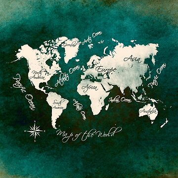 world map 146 green #worldmap #map by JBJart