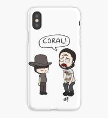 The Walking Dead, Coral meme illustration iPhone Case