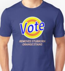Vote Parody - Removes Stubborn Orange Stains - Anti Donald Trump Slim Fit T-Shirt