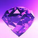 Diamond in Purple and Violet Light by JoreJj Z. Elprehzleinn