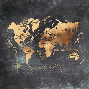 world map 147 gold black #worldmap #map by JBJart