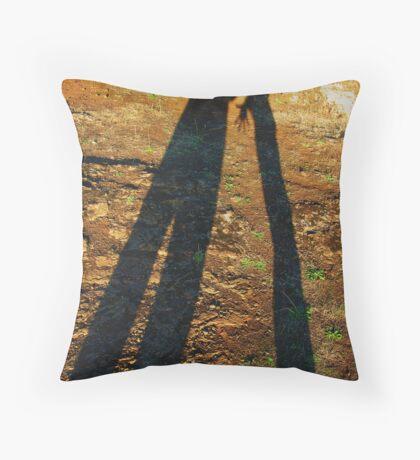 2 shadows Throw Pillow
