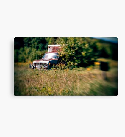 Rusted Teal Truck Canvas Print