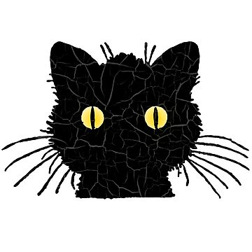 Black Cat Halloween Graphics by YLGraphics