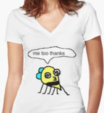 me too thanks Women's Fitted V-Neck T-Shirt