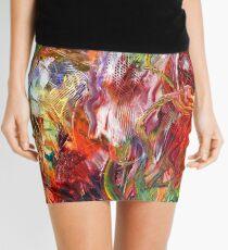 The Deep - Vibrant, Visceral Abstract Art Mini Skirt