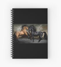 Good And Bad Horses Head To Head Spiral Notebook